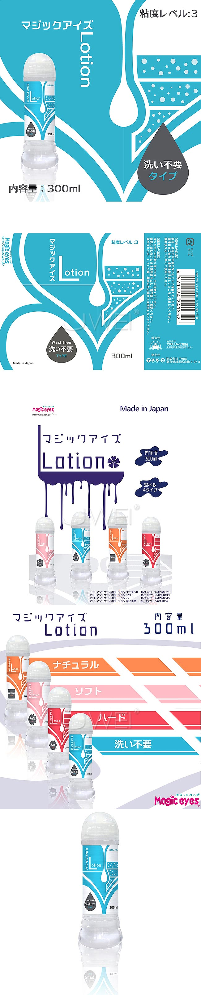 日本NPG‧Lotion Washfree Type潤滑液-300ml (藍)